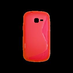 Samsung Galaxy Trend Lite - Gumiran ovitek (TPU) - rdeče-prosojen SLine