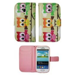 Samsung Galaxy S3 Mini - Preklopna torbica (WLGP) - Owls