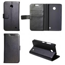 Nokia Lumia 630/635 - Preklopna torbica (WL) - črna
