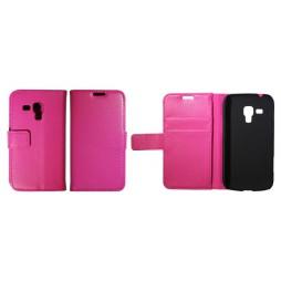 Samsung Galaxy Trend Pro/Plus/S Duos 2 - Preklopna torbica (WL) - roza