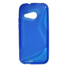 HTC One Mini 2 - Gumiran ovitek (TPU) - modro-prosojen SLine
