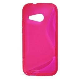 HTC One Mini 2 - Gumiran ovitek (TPU) - roza-prosojen SLine