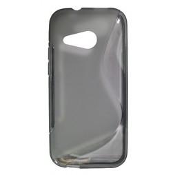 HTC One Mini 2 - Gumiran ovitek (TPU) - sivo-prosojen SLine