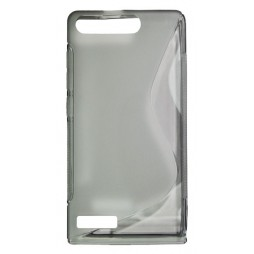 Huawei Ascend G6 - Gumiran ovitek (TPU) - sivo-prosojen SLine
