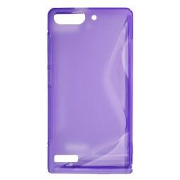 Huawei Ascend G6 - Gumiran ovitek (TPU) - vijolično-prosojen SLine