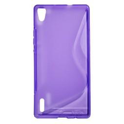 Huawei Ascend P7 - Gumiran ovitek (TPU) - vijolično-prosojen SLine