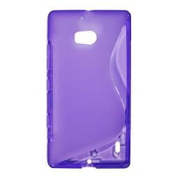 Nokia Lumia 930 - Gumiran ovitek (TPU) - vijolično-prosojen SLine