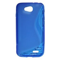LG L90 - Gumiran ovitek (TPU) - modro-prosojen SLine
