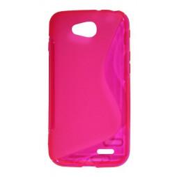 LG L90 - Gumiran ovitek (TPU) - roza-prosojen SLine