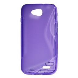 LG L90 - Gumiran ovitek (TPU) - vijolično-prosojen SLine