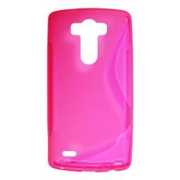 LG G3 - Gumiran ovitek (TPU) - roza-prosojen SLine