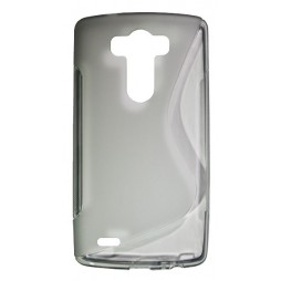 LG G3 - Gumiran ovitek (TPU) - sivo-prosojen SLine