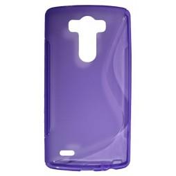LG G3 - Gumiran ovitek (TPU) - vijolično-prosojen SLine