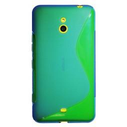 Nokia Lumia 1320 - Gumiran ovitek (TPU) - modro-prosojen SLine