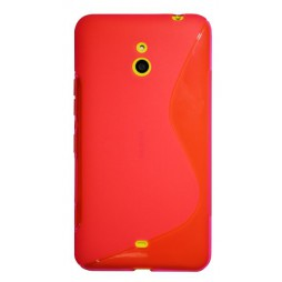 Nokia Lumia 1320 - Gumiran ovitek (TPU) - roza-prosojen SLine