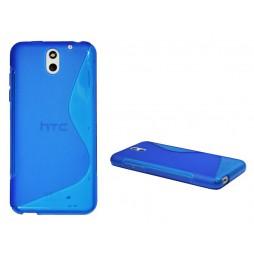 HTC Desire 610 - Gumiran ovitek (TPU) - modro-prosojen SLine