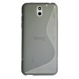 HTC Desire 610 - Gumiran ovitek (TPU) - sivo-prosojen SLine