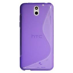 HTC Desire 610 - Gumiran ovitek (TPU) - vijolično-prosojen SLine