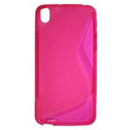 HTC Desire 816 - Gumiran ovitek (TPU) - roza-prosojen SLine