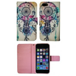 Apple iPhone 5/5S/SE - Preklopna torbica (WLGP) - Dreamcatcher