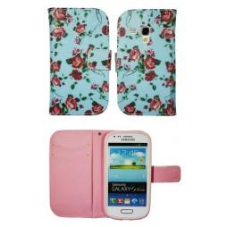 Samsung Galaxy S3 Mini - Preklopna torbica (WLGP) - Blue flowers