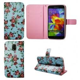 Samsung Galaxy S5/S5 Neo - Preklopna torbica (WLGP) - Blue flowers