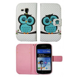 Samsung Galaxy Trend/S Duos - Preklopna torbica (WLGP) - Blue owl