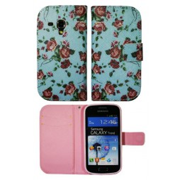 Samsung Galaxy Trend/S Duos - Preklopna torbica (WLGP) - Blue flowers