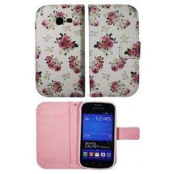 Samsung Galaxy Trend Lite - Preklopna torbica (WLGP) - Flowers