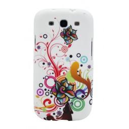 Samsung Galaxy S3 - Gumiran ovitek (TPUP) - Circles & flowers
