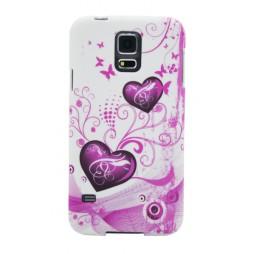 Samsung Galaxy S5/S5 Neo - Gumiran ovitek (TPUP) - White pink hearts