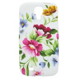 Samsung Galaxy S4 - Gumiran ovitek (TPUP) - Pink garden