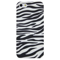 Apple iPhone 5/5S/SE - Gumiran ovitek (TPUP) - Zebra