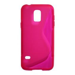 Samsung Galaxy S5 Mini - Gumiran ovitek (TPU) - roza-prosojen SLine