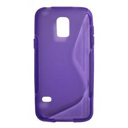 Samsung Galaxy S5 Mini - Gumiran ovitek (TPU) - vijolično-prosojen SLine