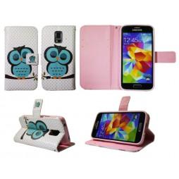 Samsung Galaxy S5 Mini - Preklopna torbica (WLGP) - Blue owl