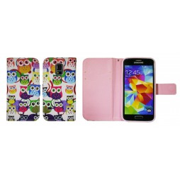 Samsung Galaxy S5 Mini - Preklopna torbica (WLGP) - Colorful owls