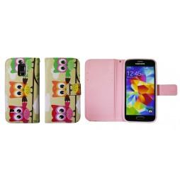 Samsung Galaxy S5 Mini - Preklopna torbica (WLGP) - Owls