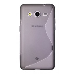 Samsung Galaxy Core 2 - Gumiran ovitek (TPU) - sivo-prosojen SLine