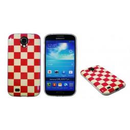 Samsung Galaxy S4 - Gumiran ovitek (TPUPS) - Šahovnica