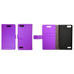 Huawei Ascend G6 - Preklopna torbica (WL) - vijolična