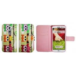 LG G2 mini - Preklopna torbica (WLGP) - Flowers