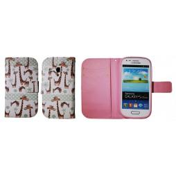 Samsung Galaxy S3 Mini - Preklopna torbica (WLGP) - Giraffe