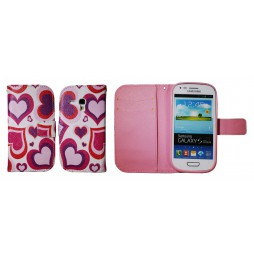 Samsung Galaxy S3 Mini - Preklopna torbica (WLGP) - Red hearts