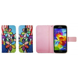 Samsung Galaxy S5 Mini - Preklopna torbica (WLGP) - Colorful flowers