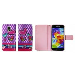 Samsung Galaxy S5 Mini - Preklopna torbica (WLGP) - Dots&hearts