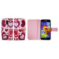 Samsung Galaxy S5 Mini - Preklopna torbica (WLGP) - Red hearts