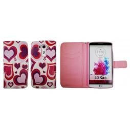 LG G3 - Preklopna torbica (WLGP) - Red hearts