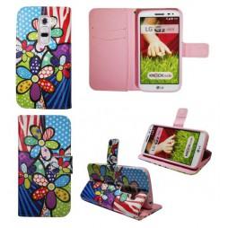 LG G2 mini - Preklopna torbica (WLGP) - Colorful flowers