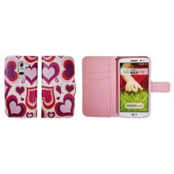 LG G2 mini - Preklopna torbica (WLGP) - Red hearts